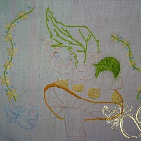 Ricamo Per Bambino - Un elfo in carrozzina -