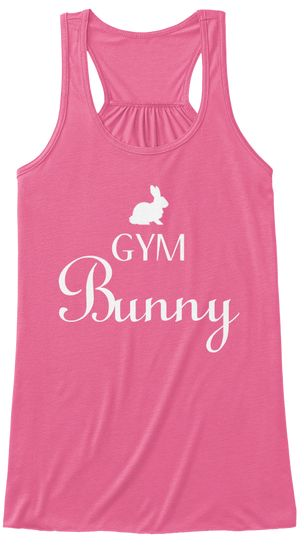 Easter Bunny Workout Tanks Gym Bunny Cute Workout Shirts With