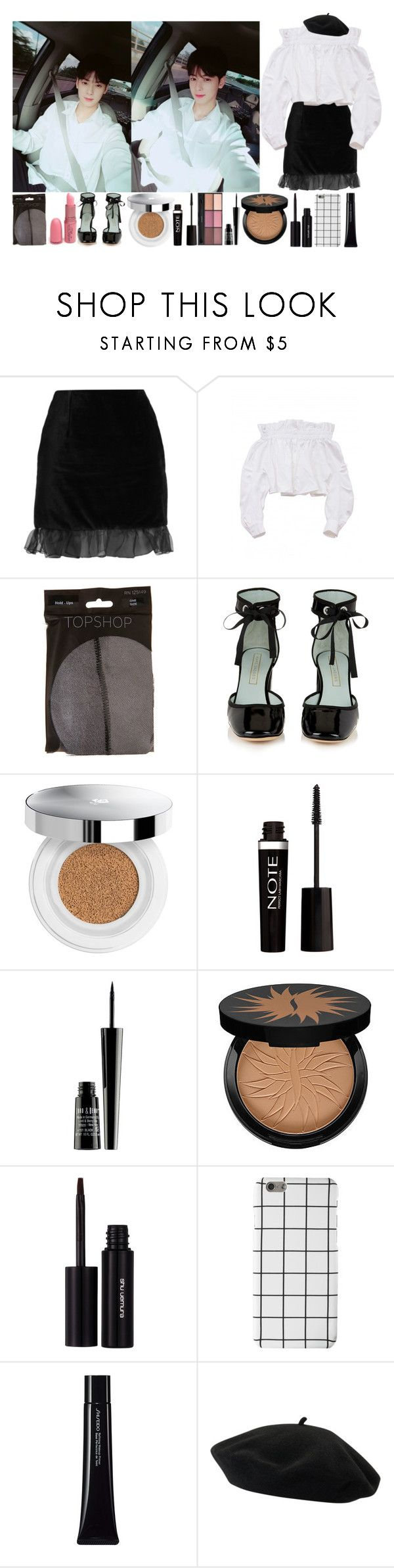 """""""Car selcas with Eunwoo"""" by yoonkimin ❤ liked on Polyvore featuring AlexaChung, Marc Jacobs, Lancôme, Lord & Berry, Sephora Collection, shu uemura, Shiseido and Goorin"""