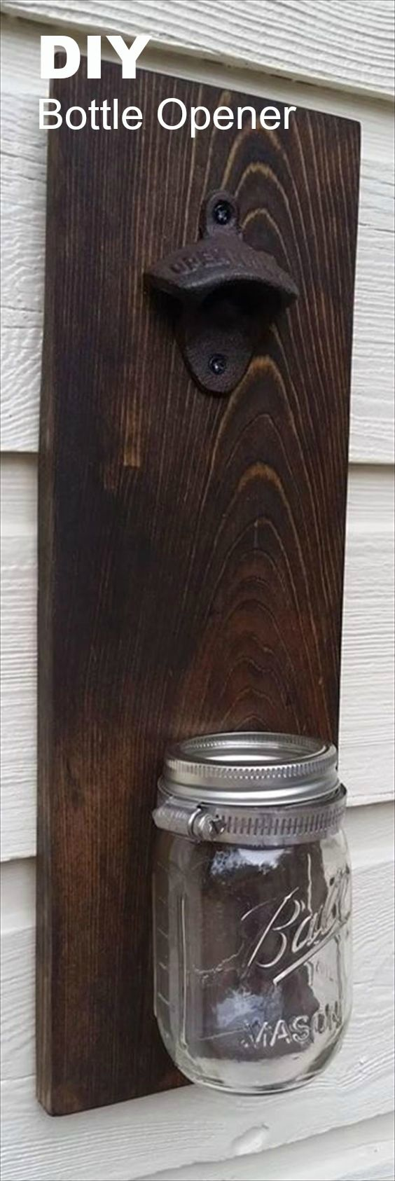 DIY Pallet Mason Jar Bottle Opener Idea