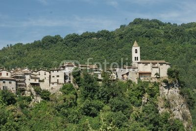 Castel Trosino is an ancient medieval fortified village, Lombardic period, standing on a travertine spur 6 km far from Ascoli Piceno, marche region
