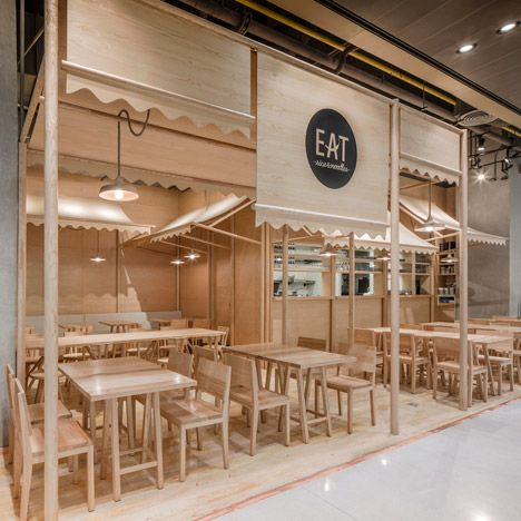 Onion Uses Solid Ash And Plywood To Create A Monochrome Restaurant Interior In Bangkok - http://decor10blog.com/decorating-ideas/onion-uses-solid-ash-and-plywood-to-create-a-monochrome-restaurant-interior-in-bangkok.html