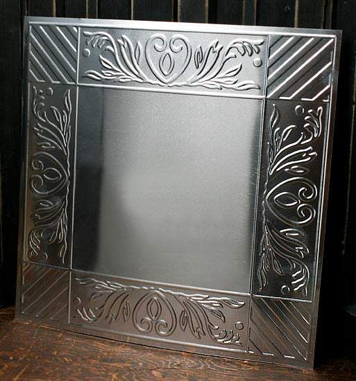 "12"" Galvanized Metal Embossed Acacia and Stripes Ceili..."