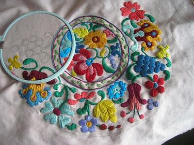 Hungarian Style Kalocsa Embroidery | mygoodbabushka