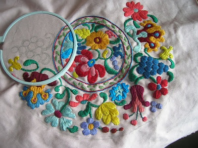 Hungarian Style Kalocsa Embroidery   mygoodbabushka