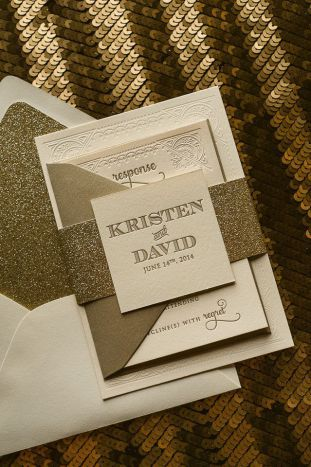 pack de invitación de boda glitter