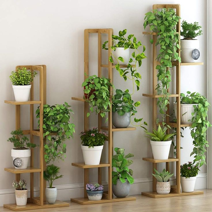 indoor flower pots with stand