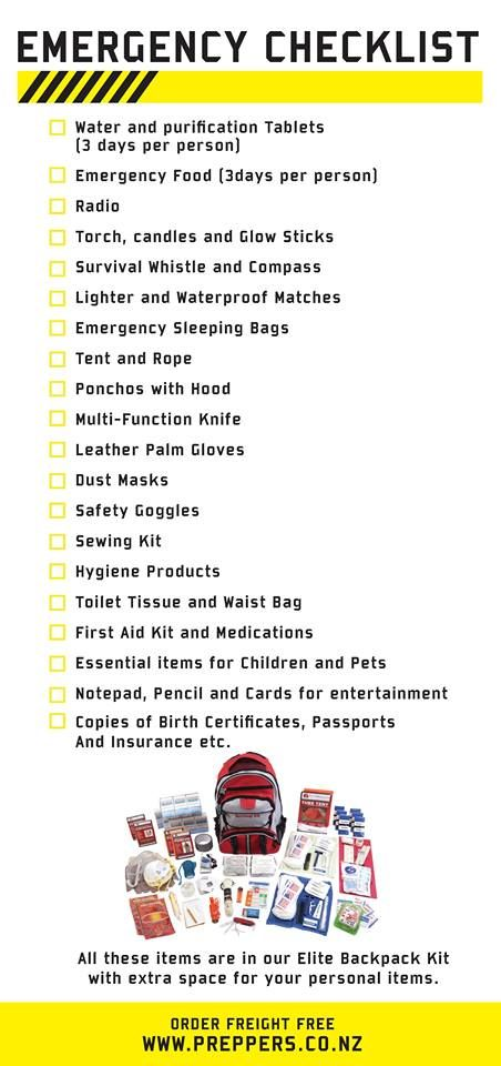 Emergency Kit NZ