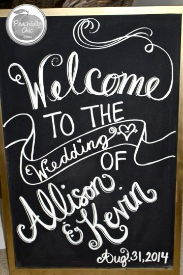 "DIY Wedding Chalkboard Signs Tutorial: Easy how-to steps to make your own ""Welcome"" and ""Dinner Menu"" Signs for your wedding."
