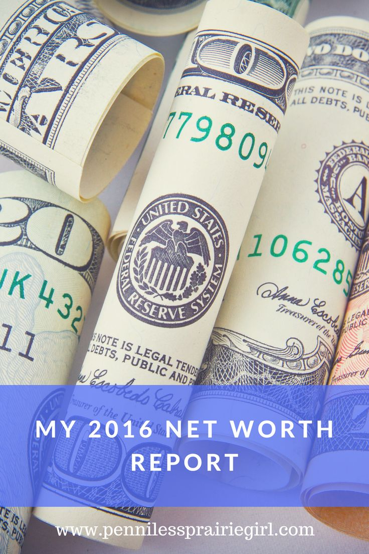 My 2016 Net Worth Report