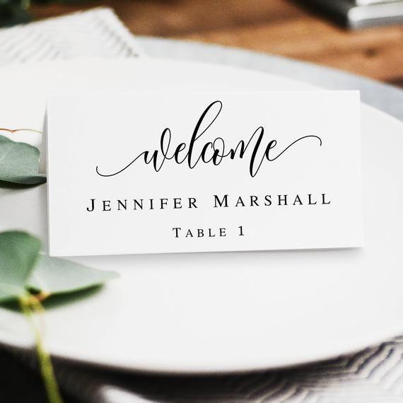 Boho Name Cards Template Printable Wedding Place Cards Table Etsy Printable Place Cards Wedding Card Templates Printable Place Card Table Wedding