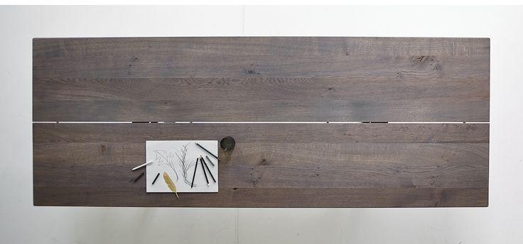 LowLight Table by dk3. #LowLight #Table #dk3 #Jacob #Plejdrup #Grey #Oil #Wild #Oak #Planks www.dk3.dk