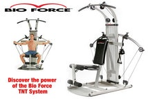 BIO FORCE - Bio Force and the TNT System is the only professional home fitness system to feature breakthrough Total Nitrocell Technology advanced slide-n-lock resistance and lightning-fast exercise changeovers for maximum results. It's all about power! Power burns calories. Power builds muscle. Power gets results. That's what the Bio Force TNT System is all about. Bio Force has TNT. Total Nitrocell Technology. For more details visit http://www.worldfitness.com.au/index.php?cPath=253