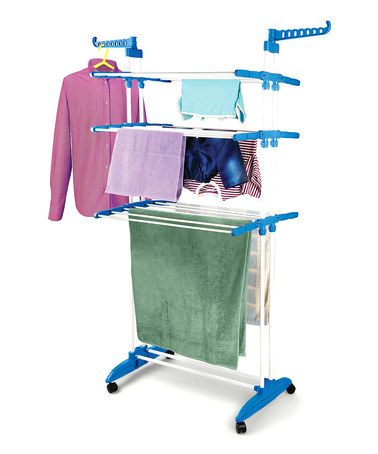 Look what I found on #zulily! Blue Multifunction Clothes Drying Stand #zulilyfinds