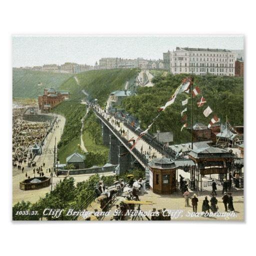 St. Nicholas Cliff, Scarborough, England Vintage Poster