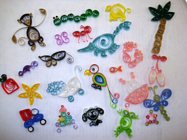Some quilling ideas for the little ones.