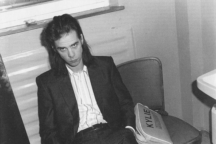 that period in the 90s when nick cave brought a kylie minogue bag everywhere