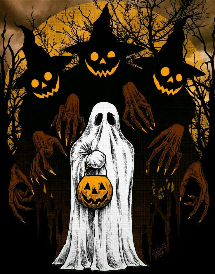 Pin By William Calhoun Book On Halloween Wallpapers Halloween Drawings Halloween Artwork Halloween Art