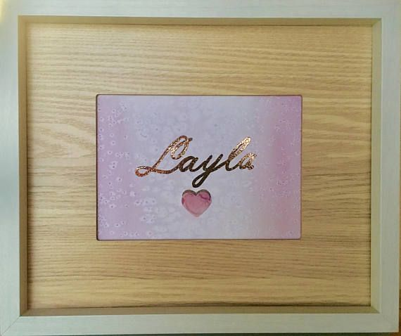 Rustic style Rose gold personalised water colour calligraphy