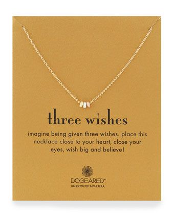 Three+Wishes+Pendant+Necklace+by+Dogeared+at+Neiman+Marcus.