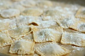 Homemade Beef Ravioli with Roasted Tomato Sauce