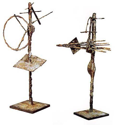 """Roberto Matta - """"Cyclotruomo"""" & """"Coelacanto"""" _ bronzes 1959"""