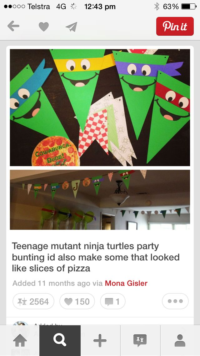 Turtle bunting