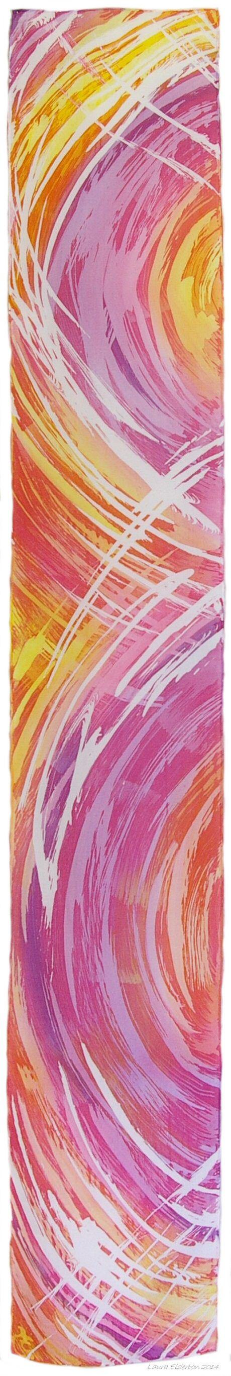 Sunset Colours hand dyed silk scarf by Laura Elderton www.etsy.com/shop/lauraelderton