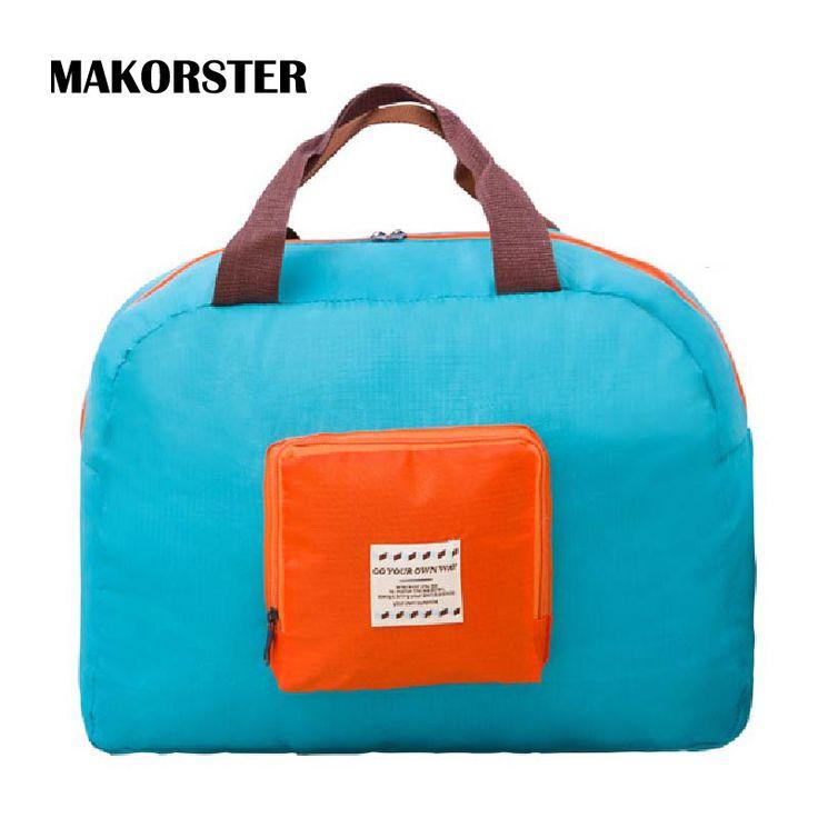 MAKORSTER Estudiante de Moda de Marcas Famosas Mujeres bolsas de viaje de Nylon bolsa de viaje de lona bolsa de equipaje bolsos de fin de semana XH232
