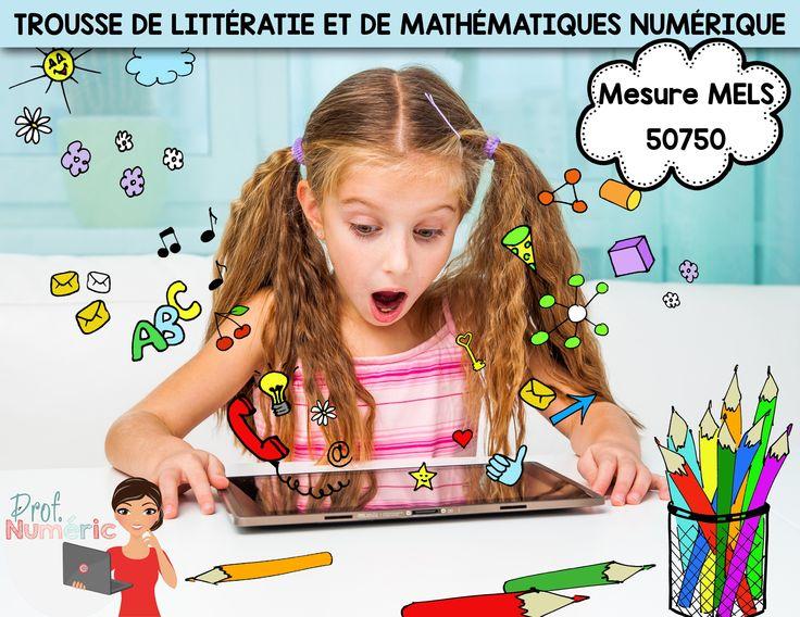 Trousse de littératie et de mathématiques numérique au primaire. Histoire audio + Quiz interactif + FlipBook + Cahier interactif + ChallengeU.
