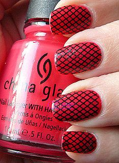 sexy fishnet nail art