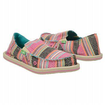 Sanuk Kids' Donna Pre/Grd Shoes (Pink Poncho)