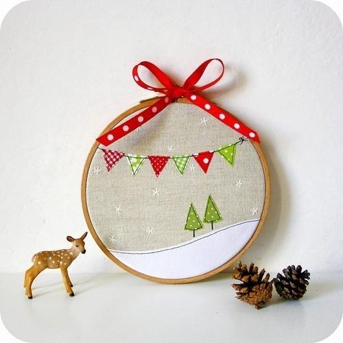 Stickrahmen-Weihnachtsdeko Mehr