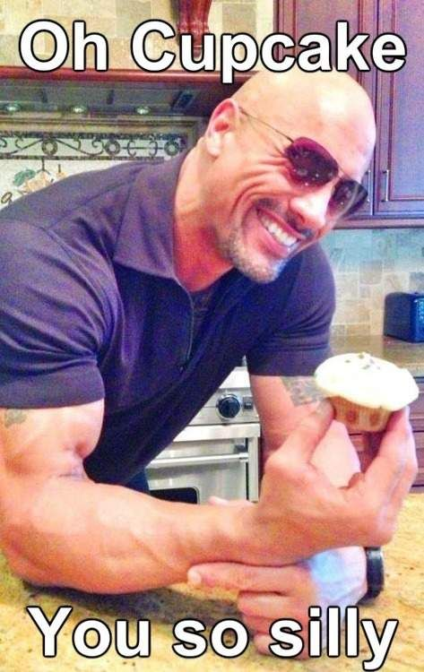 Dwayne Johnson The Rock - Oh cupcake