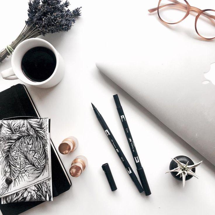 Desk Essentials . . . #desk #essentials #design #designer #glasses #lavender #coffee #plants #love #art #artist #photography #knolling