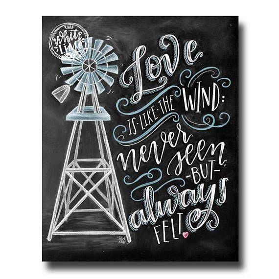 Windmill Art Love Print Windmill Decor Love Is Like The