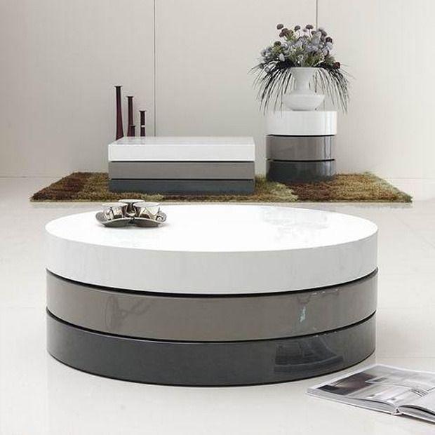 Tri Layered Hidden Storage Coffee Table