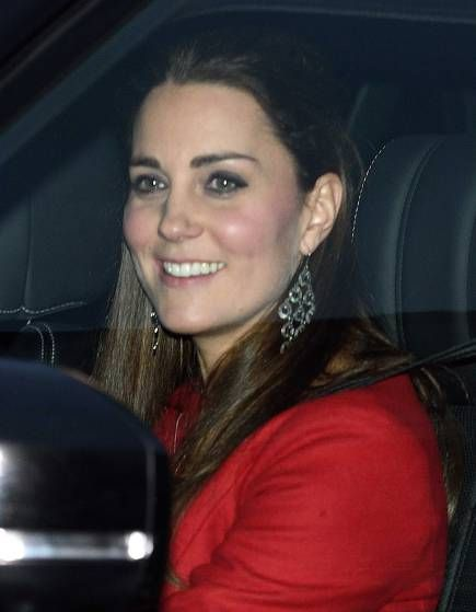 The Duke and Duchess of Cambridge depart from the Buckingham Palace Pre-Christmas Lunch