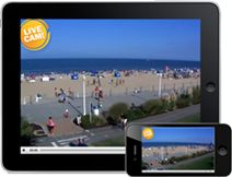 Enjoy this live webcam of Virginia Beach at 32nd Street, courtesy of The Hampton Inn Oceanfront North.