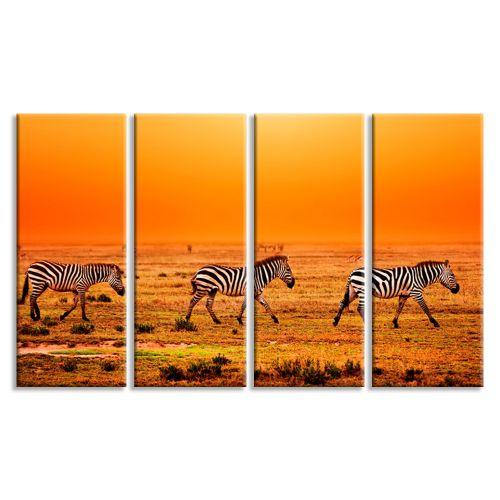 Купить Модульные картины Африканские зебры: цена, фото, на заказ