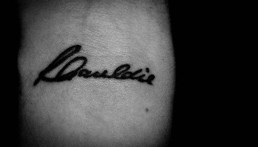 Wrist tattoo in memory of my Dad <3
