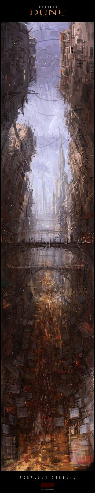 Mark Molnar - Sketchblog of Concept Art and Illustration Works: Project Dune: Arrakeen Streets (wip) ~ amazing how as you scroll down, the view pans down. Awesome