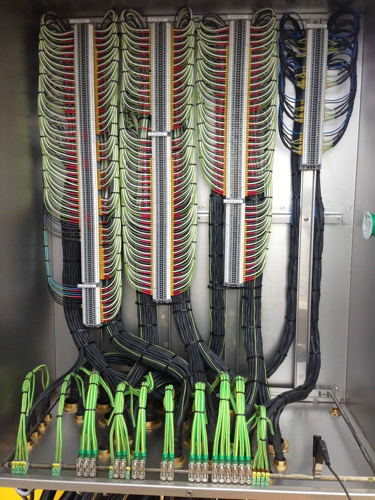 Near perfect cable wiring in a terminal block. As good as it gets.