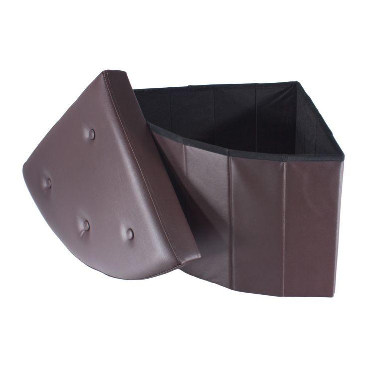 Smartfox Faltbarer Sitzhocker Ottomane Fußablage 48x48x40cm Braun Eckteil Knöpfe in Möbel & Wohnen, Möbel, Ottomane & Fußhocker   eBay!