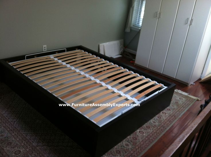 Ikea malm storage bed assembled in baltimore md for Ikea platform bed with nightstands