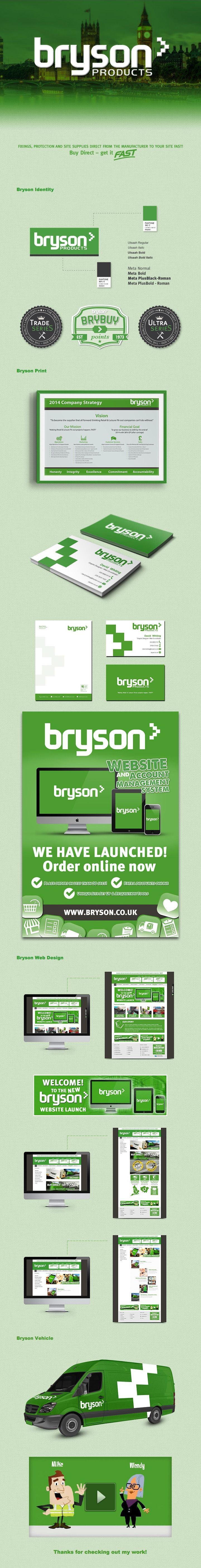 Bryson Products - Graphic Design #Identity #Branding