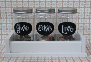 Such a cute idea.: Allowance Jars, Good Ideas, Banks Ideas, For Kids, Money Management, Cute Ideas, Diy Money, Bedrooms Ideas, Money Jars
