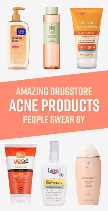 20 Drugstore Acne Products That People Actually Swear By #naturalhomeremediesforacnepeopleshouldknow #SkinCleanserHomemade
