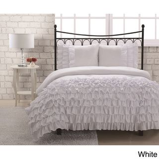 Marley 3-piece Comforter Set | Overstock.com/ also aqua, blue,red. starting at $39.99 for twin 3 pcset