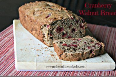 Cranberry Walnut Bread by